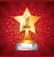 star award trophy icon number one stars dot vector image