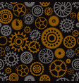 steampunk cogwheels seamless pattern vector image vector image