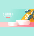 summer sale design with product display vector image