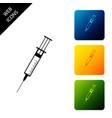 syringe icon isolated on white background syringe vector image vector image