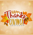 thanksgiving day greetings vector image vector image