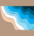 tropical beach concept with ocean waves and sand vector image