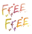 Watercolor lettering Free vector image vector image