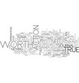 who determines your true worth text word cloud vector image vector image