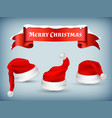 winter christmas banner with realistic vector image