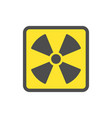 yellow symbol flat yellow icon for websites vector image