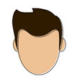 young man face vector image vector image