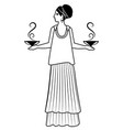 zodiac in the style of ancient greece libra woman vector image