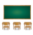Welcome back to school and classroom of an empty vector image