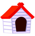 colorful cartoon pet house icon poster vector image