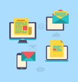 concept of email marketing via electronic gadgets vector image