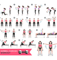 Woman dumbbell workout fitness and exercises vector image
