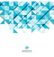 abstract blue triangle and square in light blue vector image