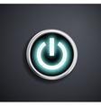 Round power button vector image