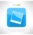 Vintage photo frame icon in modern clean and vector image