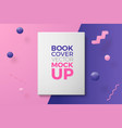 3d realistic book abstract scene with text vector image vector image