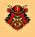 a samurai mask shogun warrior helmet vector image vector image