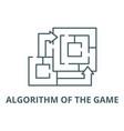 algorithm game line icon algorithm vector image vector image