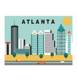 atlanta city usa vector image vector image