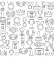 awards trophy medals success winner pattern vector image vector image