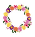 Beautiful greeting card with floral wreath Holiday vector image vector image