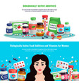 biologically active additives banners vector image
