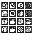 Black Computer mobile phone and Internet icons vector image vector image