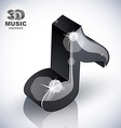 Black musical note icon vector image vector image