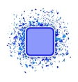 Blue Confetti Banner Set of Particles vector image vector image