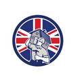 british building contractor uk flag icon vector image