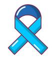 cancer ribbon icon cartoon style vector image vector image
