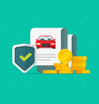 car or auto insurance financial guarantees vector image vector image
