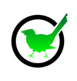 check mark icons green bird is a jackdaw vector image