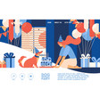 concept banner for celebration happy birthday vector image