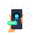 concept online shop conversation with chatbot vector image