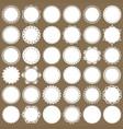 cute lacy doilies mega set on cardboard vector image vector image