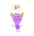 cute monster is smiling vector image vector image