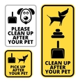 Dog signs vector image vector image