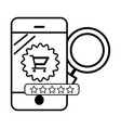 ecommerce online shopping smartphone vector image vector image