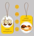 for hanukkah is big jewish holiday vector image vector image