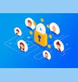 general data protection regulation vector image