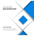 Geometric blue 3D background vector image vector image