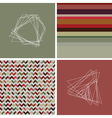 geometric colored hipster striped pattern vector image vector image