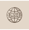 Globe with live sign sketch icon vector image vector image