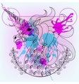 Hand drawn magic unicorn for adult coloring vector image vector image