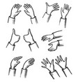 hand pair gesture body communication sign sketch vector image vector image