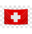 hanging flag switzerland swiss confederation vector image
