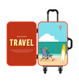 happy holiday and travel around world concept vector image