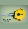 hi-tech digital concept vector image vector image