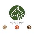 horse logo template design vector image